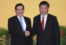 China-Taiwan, historic handshake between the two presidents