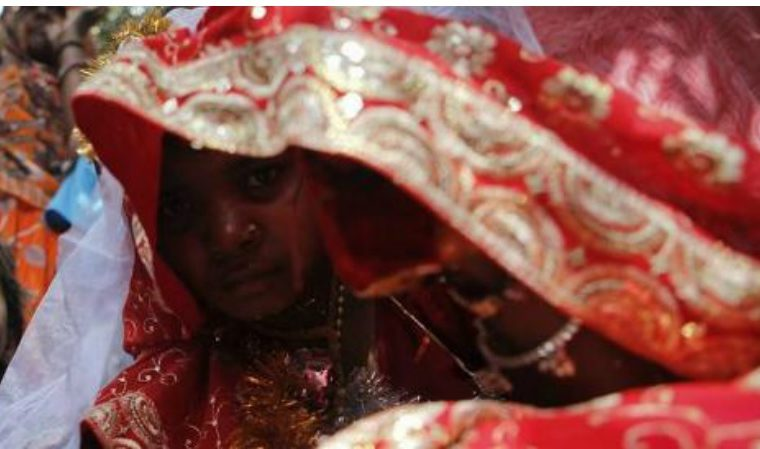 Yesterday a child, today a bride