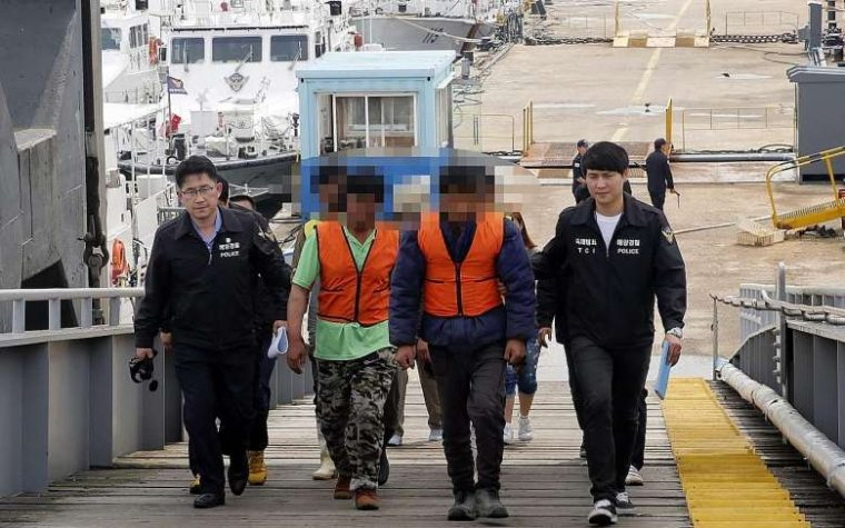 Harmless Chinese fishermen captured by South Korea, tried to flee to DPRK