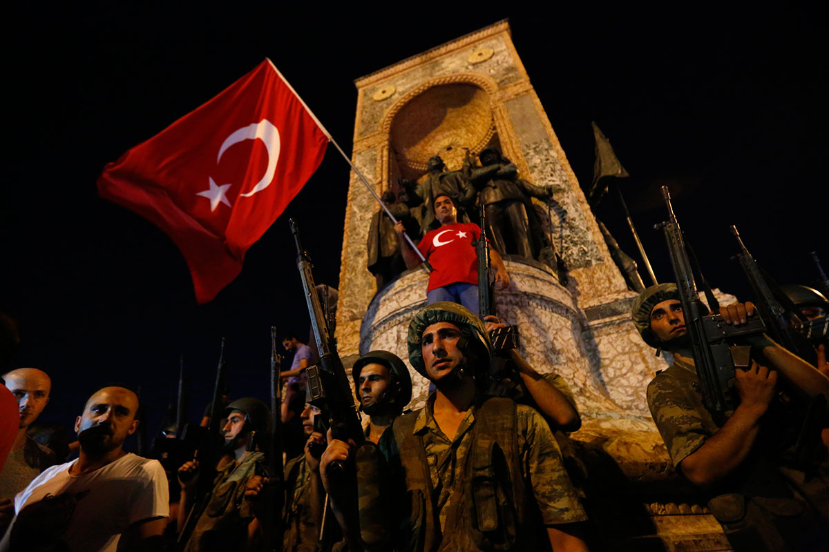 Officials said the military had been ordered by the presidency to shoot down planes hijacked by those involved in the coup attempt and that jets had been scrambled.