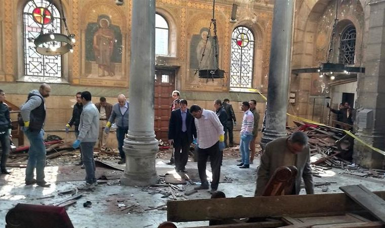 Cairo: 25 killed by bomb blast at St Mark's Cathedral