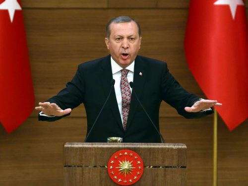 Recep Tayyip Erdogan enthroned Sultan of Turkey after the nationwide victory at the referendum