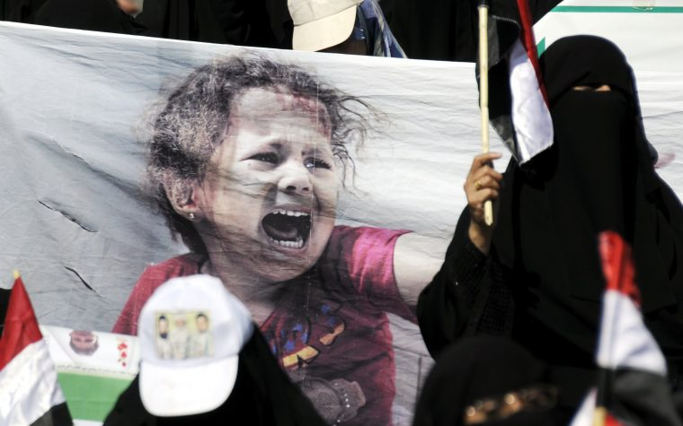 Yemenis denounce Saudi siege and genocide